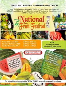 National Fruit Festival Trinidad Tobago June 2014