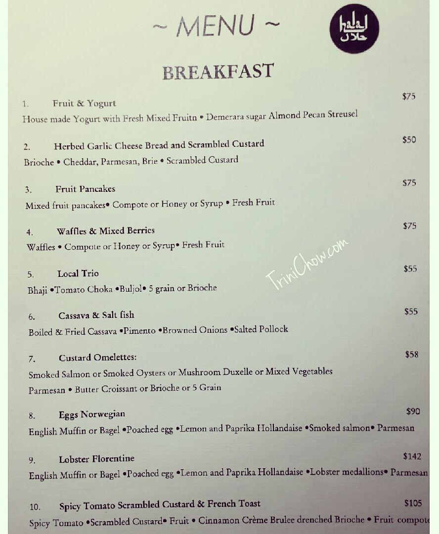 Peche Patisserie Chaguanas Breakfast Menu Lunch