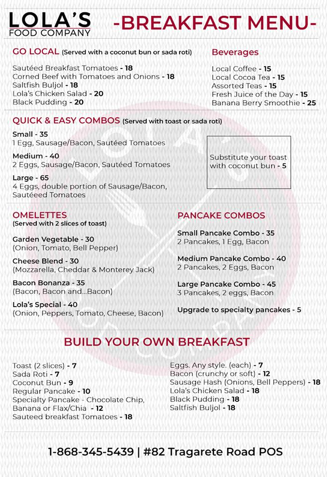 Trinidad Brunch Breakfast Guide Trinichow