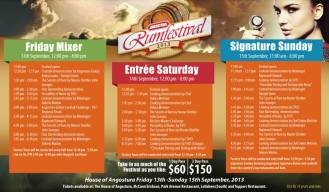 2013 Angostura Rum Festival Schedule