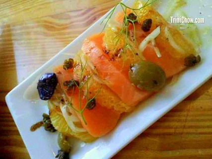 Chaud Cafe Salmon Crudo