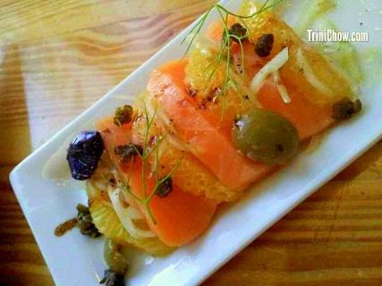 Chaud Cafe Salmon Crudo