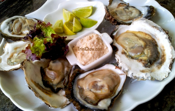 Peche Patisserie Trinidad Oysters