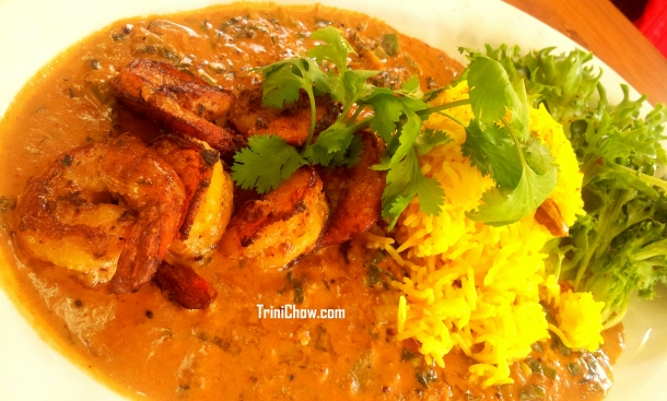 Peche Patisserie Trinidad Tandoori Shrimp