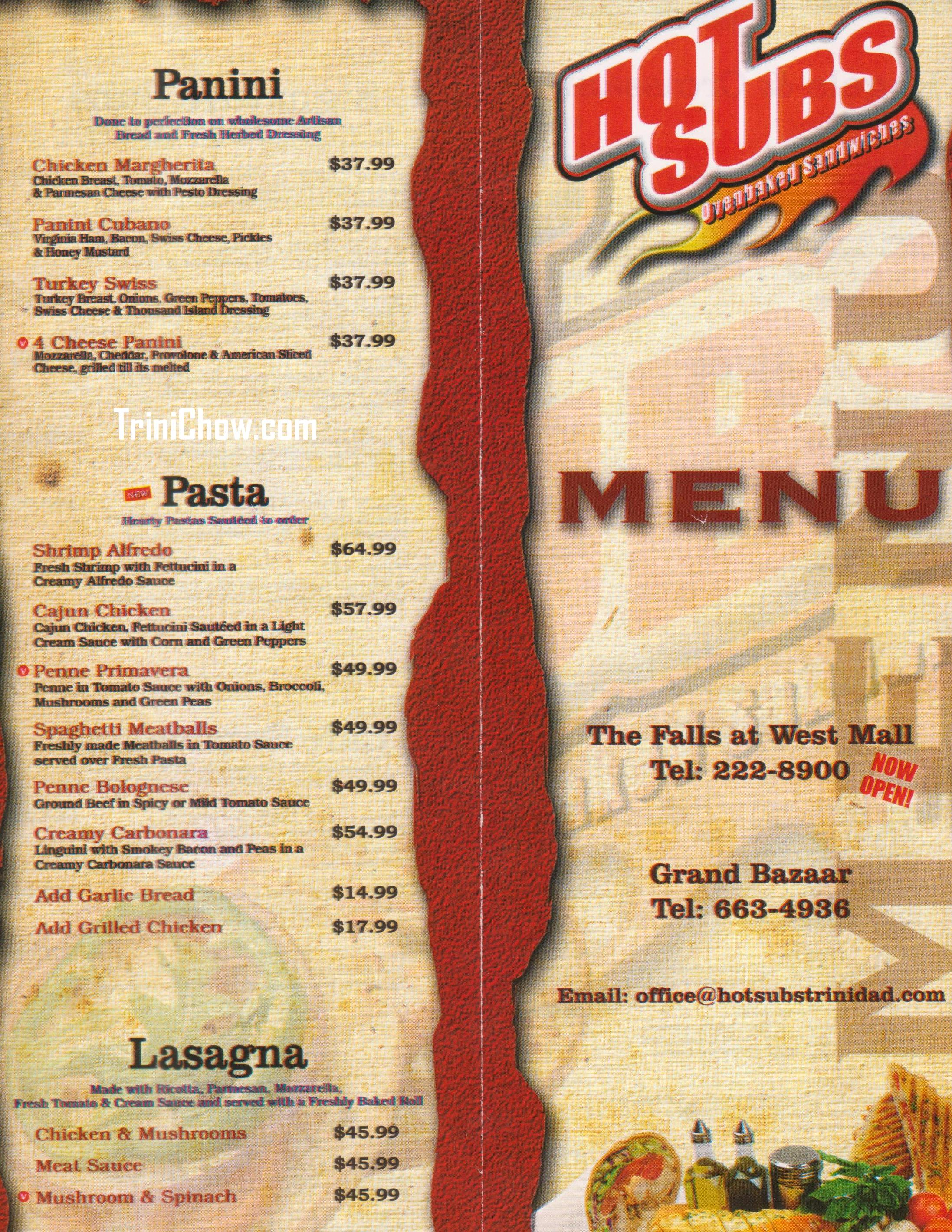 Cafe West  Menu