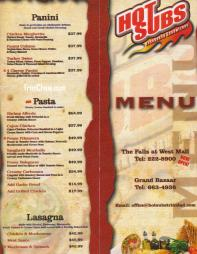Hot Subs Cafe Trinidad Menu