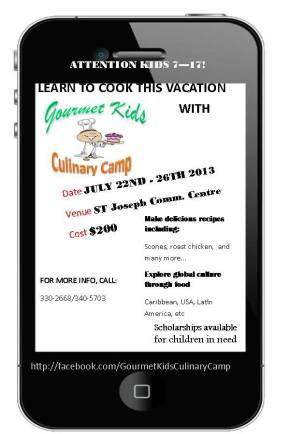 2013 KIDS Culinary Camps in Trinidad & Tobago