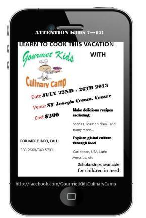2013 KIDS Culinary Camps in Trinidad &Tobago