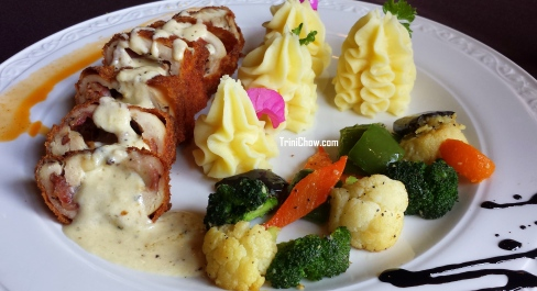Chicken Invollatini 106 Restaurant Chaconia Hotel Trinidad