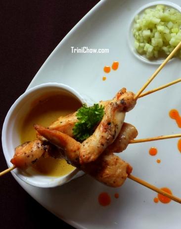 Chicken Satay 106 Restaurant Chaconia Hotel Trinidad