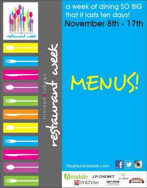 Trinidad & Tobago Restaurant Week: November 8th-17th!