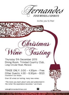 Food & Wine Events in Trinidad & Tobago: DECEMBER 2013