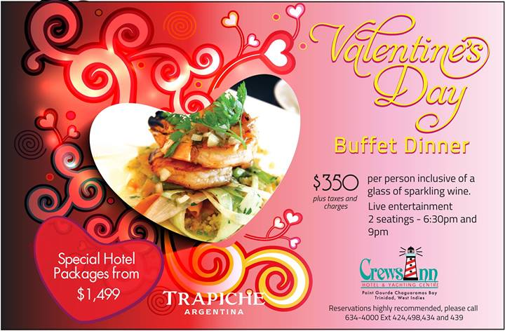 2014 valentines day specials at restaurants in trinidad tobago - Valentine Day Hotel Specials