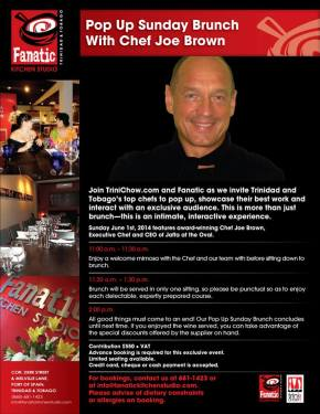 English-Style Brunch @ Fanatic with Chef Joe Brown on June1st!