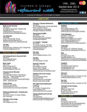 2014 Trinidad & Tobago Restaurant Week Directory