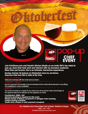 Oktoberfest Brunch @ Fanatic with Chef Joe Brown on 26th October!