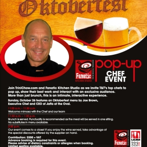 Oktoberfest Brunch @ Fanatic with Chef Joe Brown on 26thOctober!
