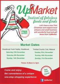 UpMarket Trinidad Schedule Nov-Dec 2014