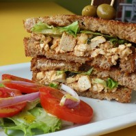 Youthful Vegan Cafe Trinidad - Tofu Sandwich