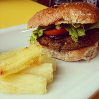 Youthful Vegan Cafe Trinidad - Veg Burger