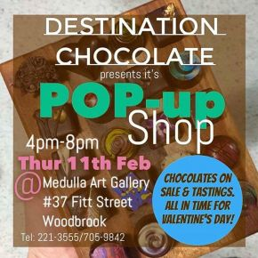 POP-UP Chocolate Shop: Thursday, 11th Feb (4-8pm)