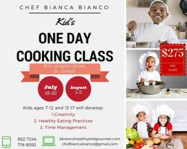 Chef Bianca Bianco Kids Cooking Class 2016 - Trinidad