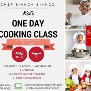 2016 KIDS Culinary Camps in Trinidad &Tobago