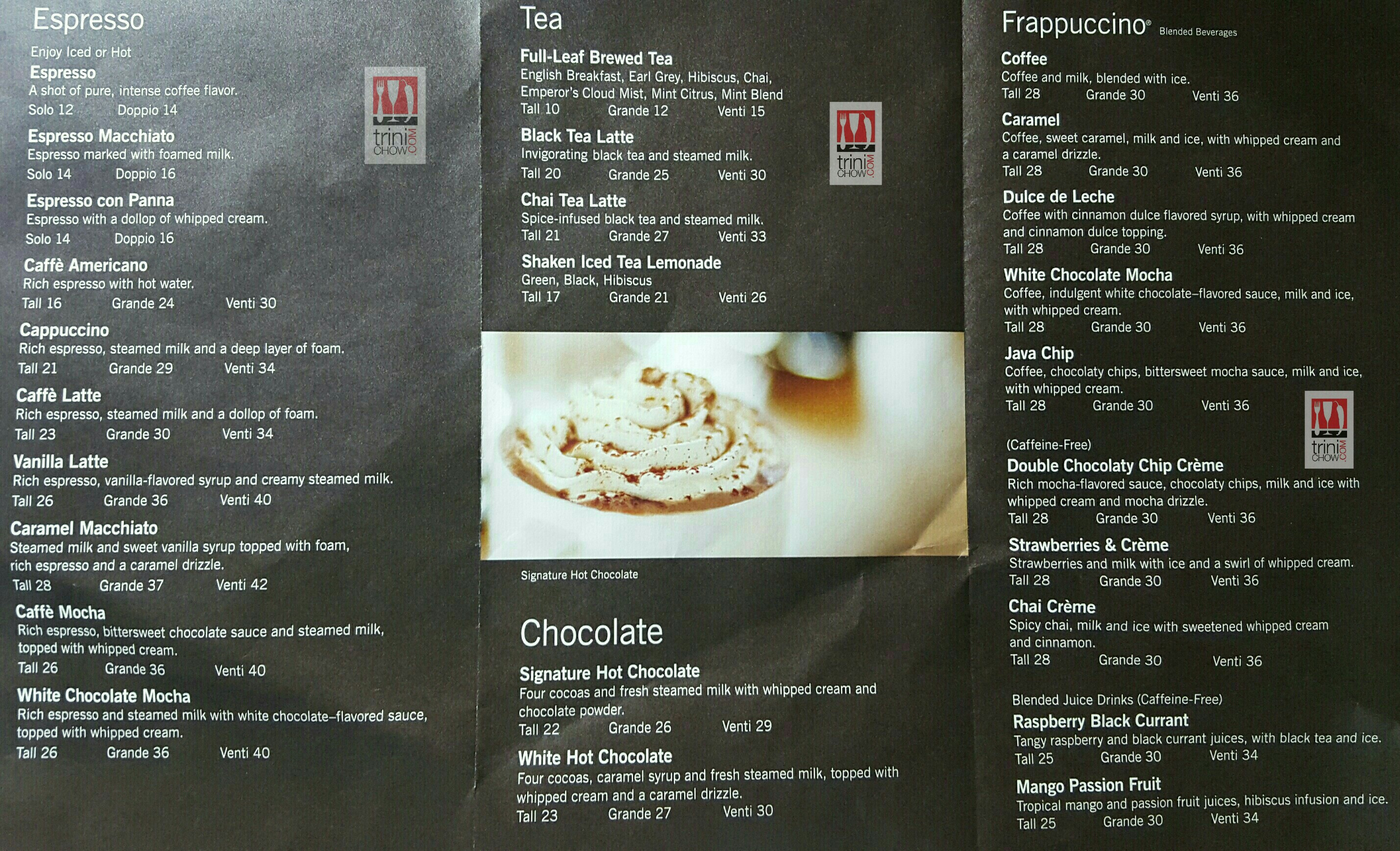 Chinese Starbucks Menu Food
