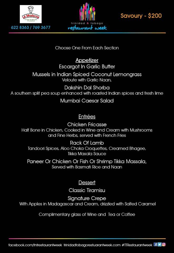 Participating restaurants menus 2016 trinidad for 9 tastes thai cuisine cambridge ma